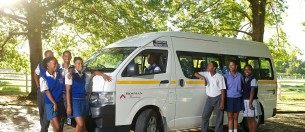 A small school bus was bought with the allocation generated by Fairtrade wine sales in order to address the transport needs of many of the children and elderly living on the Bosman estates.